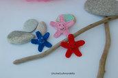 Stelle marine amigurumi - giocattoli per bambini - regalo - portachiavi - bomboniera nascita e battesimo