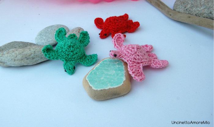 Amigurumi tartarughe marine portachiavi regalo for Oggetti per tartarughe