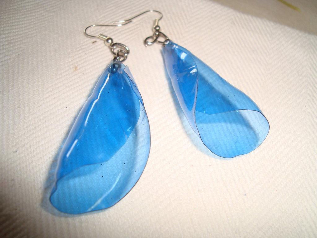 orecchini a cono blu