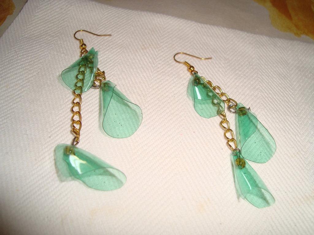 orecchini campanelle verdi