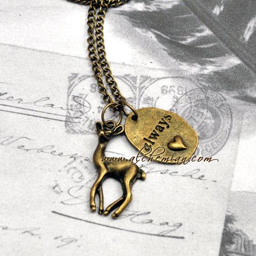 Harry Potter Patronus Cerva con medaglietta Always