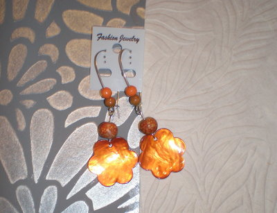 Orecchini orange flower