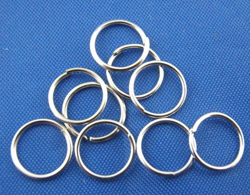 Anellini aperti 7mm tono platino 100 pz