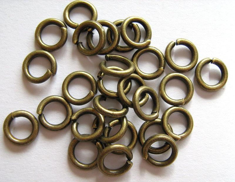 Anellini 8x1,5mm bronzo 60 pezzi
