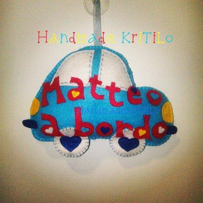 bimbo a bordo macchina Handmade KriTiLo