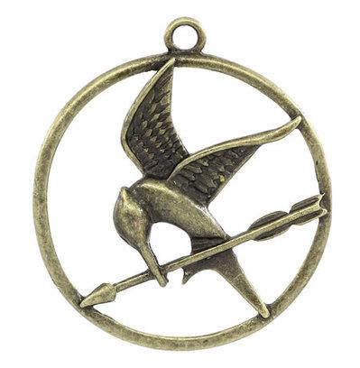 Charm ghiandaia imitatrice bronzo Hunger Games 6 pz