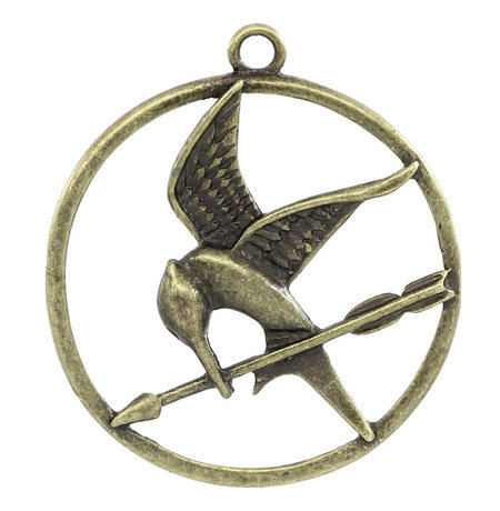 6 Charms ghiandaia imitatrice bronzo Hunger Games