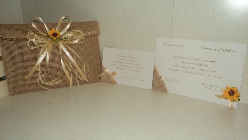 Partecipazioni Matrimonio In Juta : Partecipazioni artigianali personalizzabili busta e decoro