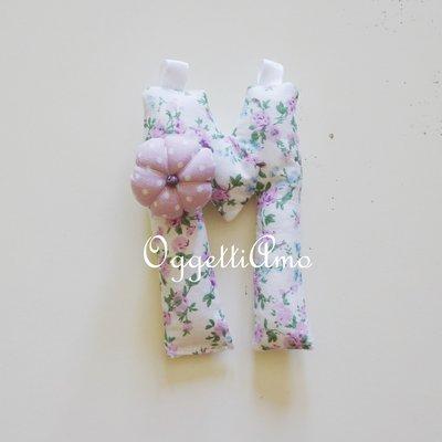 Letterine imbottite in cotone colorato per bomboniere originali e personalizzate!