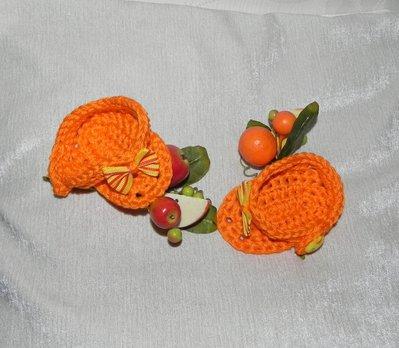 Scarpette ìnfradito sandali bambina arancione con fiocchetto a righe