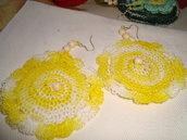 orecchini  pendenti girandola gialli