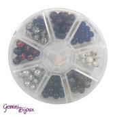 Box 8 lotti di perle da 8 mm. Nero