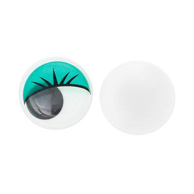 Set 10 occhi mobili rotondi - 20 mm