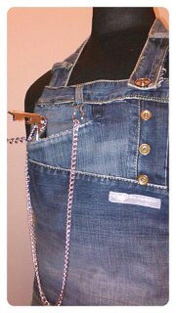 "GREMBIULE JEANS    ""   Fra Patch&Work .. e il Sartoriale  ""          --mod. jeans --"