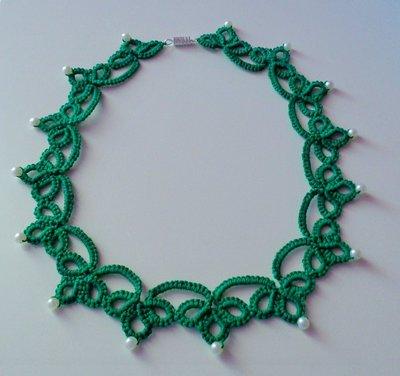 Meravigliosa collana verde smeraldo