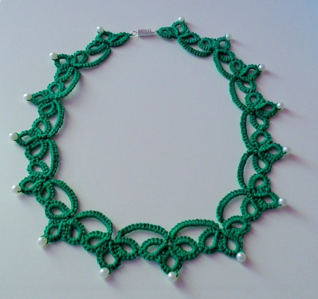 Super Meravigliosa collana verde smeraldo - Gioielli - Collane - di  KC46