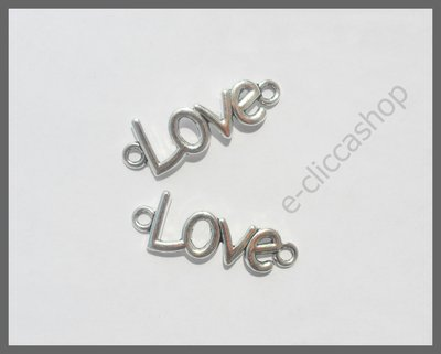 LOVE, CHARMS CONNETTORE PENDENTE 4 PZ