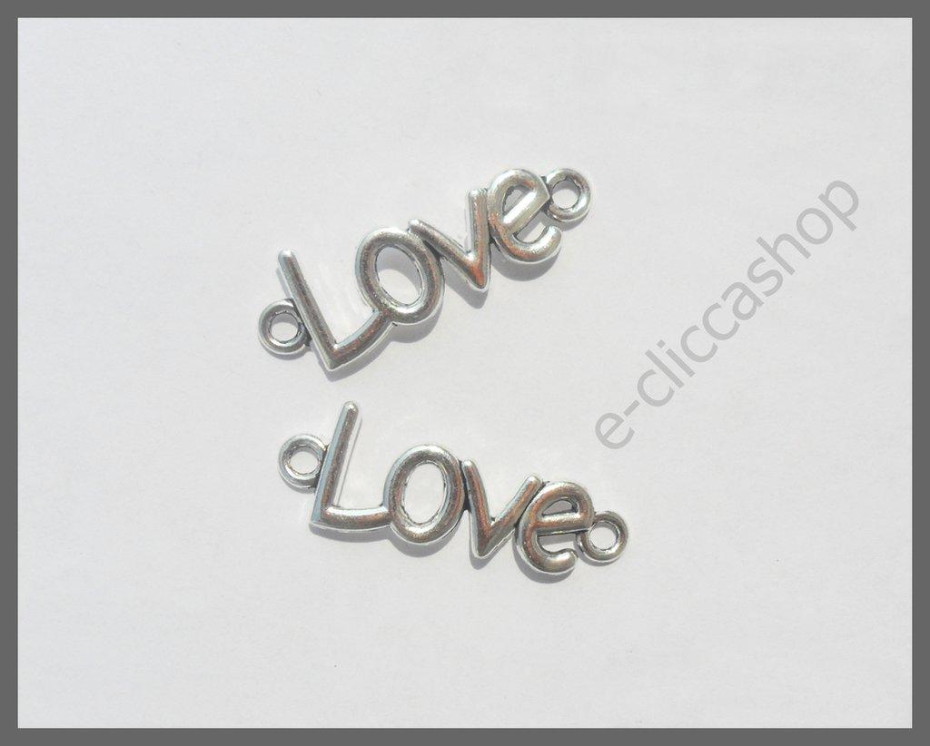 LOVE, CHARMS CONNETTORE PENDENTE 4 PZ