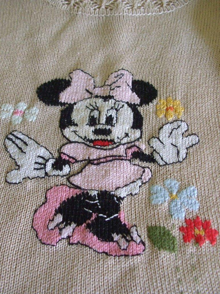 golfino bimba maglia cotone lana ricamato