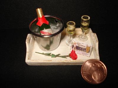 vassoio champagne