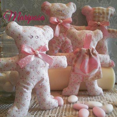 Orsetti portaconfetti - Bomboniera per nascita,battesimo,comunione,compleanno
