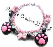 Bracciale - I love Dog - Amante degli animali - impronta zampa