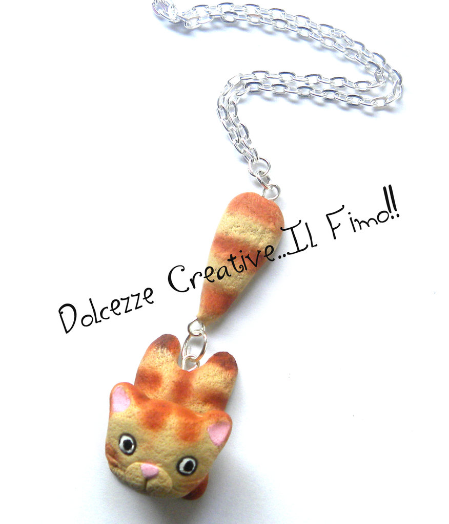 Collana gatto kawaii  - I love cat - Idea regalo
