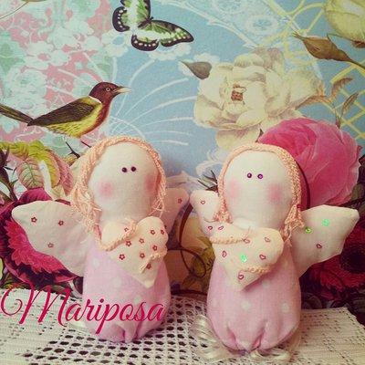 Angeli fatti a mano - Bomboniera per nascita,battesimo,comunione,compleanno - Bimba