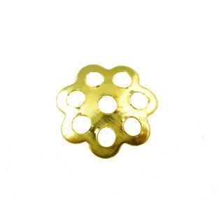 Coppette copriperla fiore 6mm dorate 126 pz