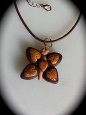 Ciondolo farfalla in fimo