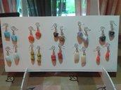 Orecchini in perle di vetro