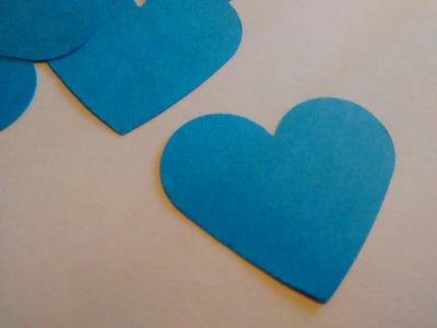 100 cuori azzurri, confetti, coriandoli per matrimonio, eventi, feste