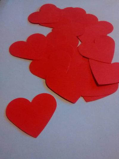 100cuori rossi, confetti, coriandoli per matrimonio, eventi, feste