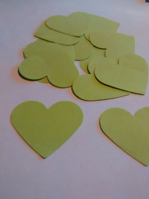 100 cuori verde, confetti, coriandoli per matrimonio, eventi, feste