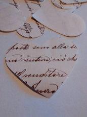 20 cuori avorio, lettere, confetti, coriandoli per matrimonio, eventi, feste
