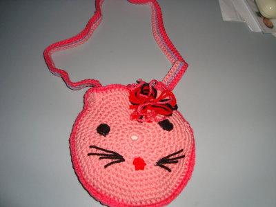 tracolla micio rosa