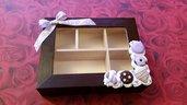 Scatola balsa decorata con biscotti in fimo per bustine the, infusi, tisane o portaoggetti