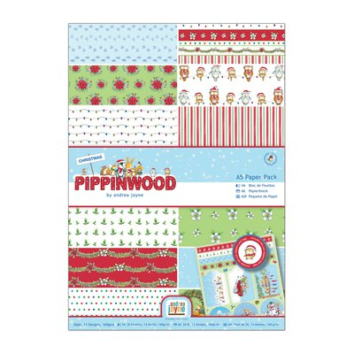 Blocco carta A4 + Die-cut - Pippinwood Christmas