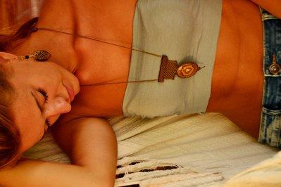 collana in Macramè con aragonite