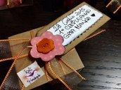 Scatolina bomboniera con tag personalizzato