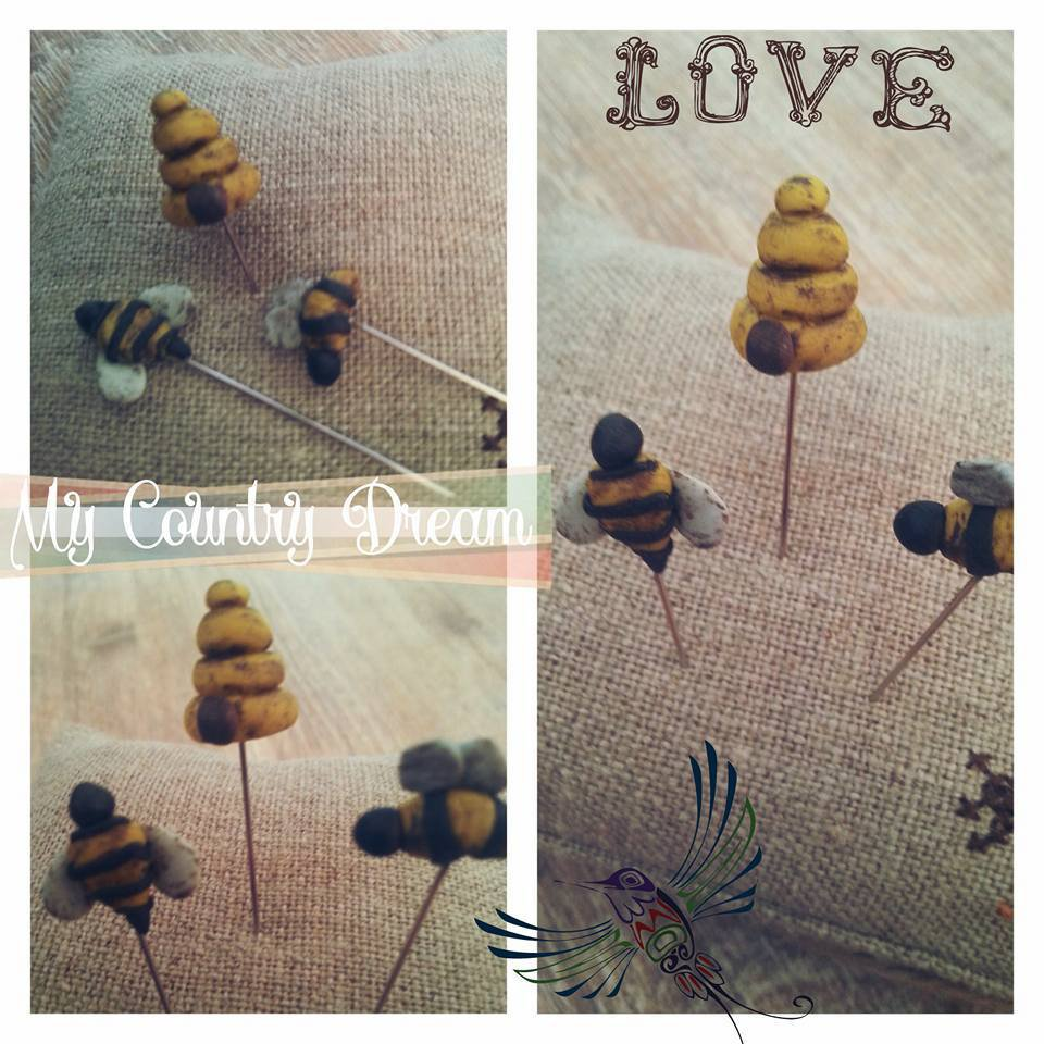 "Handmade Pins ""Honey"""