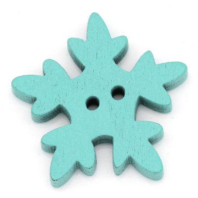 Set 10 bottoni - Fiocco azzurro