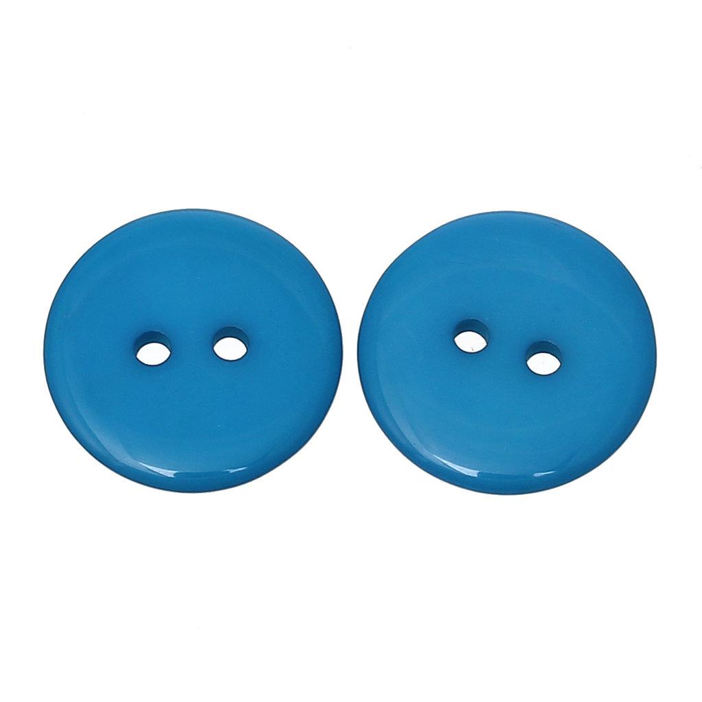 Set 10 bottoni 20 mm - Blu