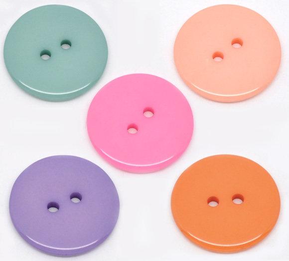 Mix 10 bottoni - 23 mm