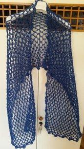 Sciarpa blu cobalto a punto strega
