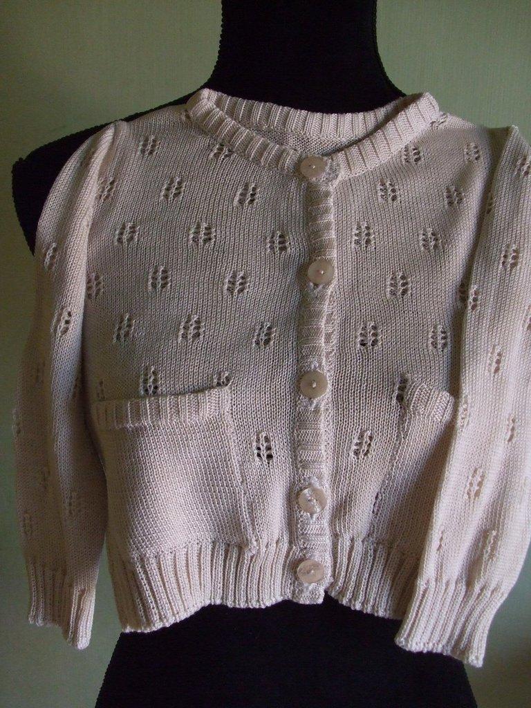 cardigan bimba cotone maglia