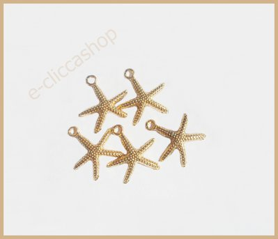 CHARMS STELLA MARINA COLOR ORO 5 PZ