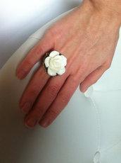 HANDMADE N13 - anello rosa in resina