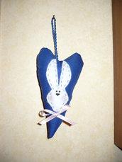 Cuore blu con Coniglietto