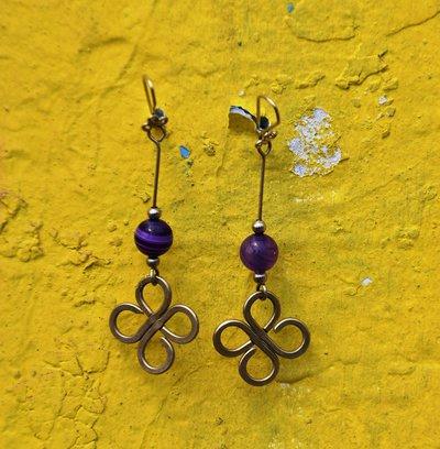 orecchini con agata viola